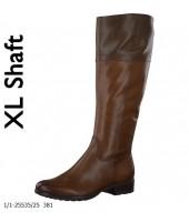 Romeo Tamaris Brown Combination Wide Calf Leather Boot 1-25501-25