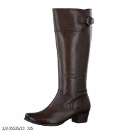 Monty Marco Tozzi Brown Leather Full Length Boot  2/2-25525-23