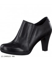 Kass Tamaris Black Leather Ankle Boot Shoe 1/1-24405-23
