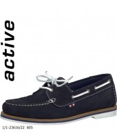 Sailor Tamaris Navy Lace Up Boat Shoe 1-23616-22