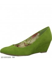 Susie Marco Tozzi Green Imi Suede Wedge Shoe 2-22313-22