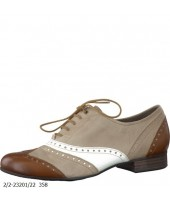 Woody Marco Tozzi Pepper Leather Brougue Stlye Shoe 23201