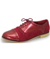 Regina Lunar Red Imi Patent and Suede Laced Shoe FLC664