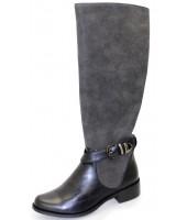 Jocelyn Lunar Black Contrast Long Boot GLC494