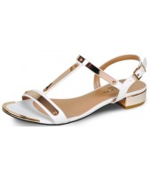 Paris Lunar White Plated Sandal With Buckle JLH616