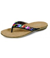 Beach Lunar Black Toe Post With Multicolour Bead JLH621
